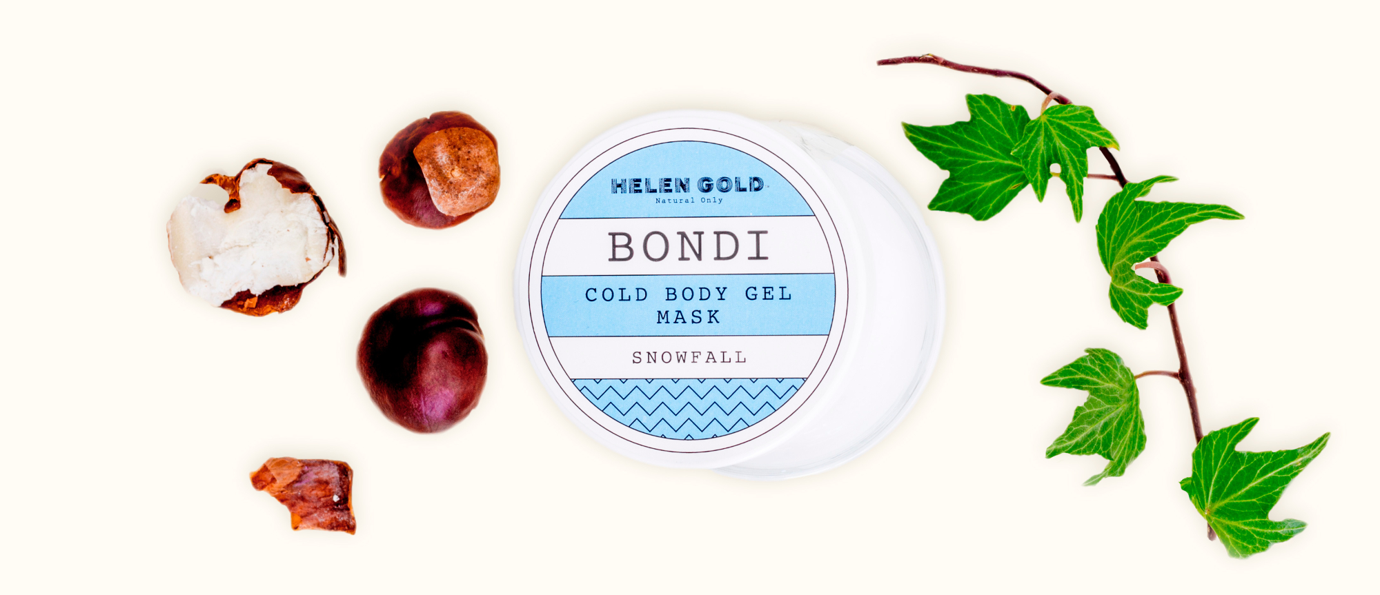 Средства для тела Snowfall Cold Body Gel Mask серии Bondi от Helen Gold, аромат - , 250 г