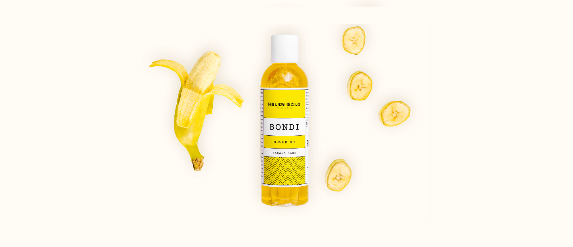 Средства для ванн и душа Banana Mama Shower Gel серии Bondi от Helen Gold, аромат - банан, 200 г