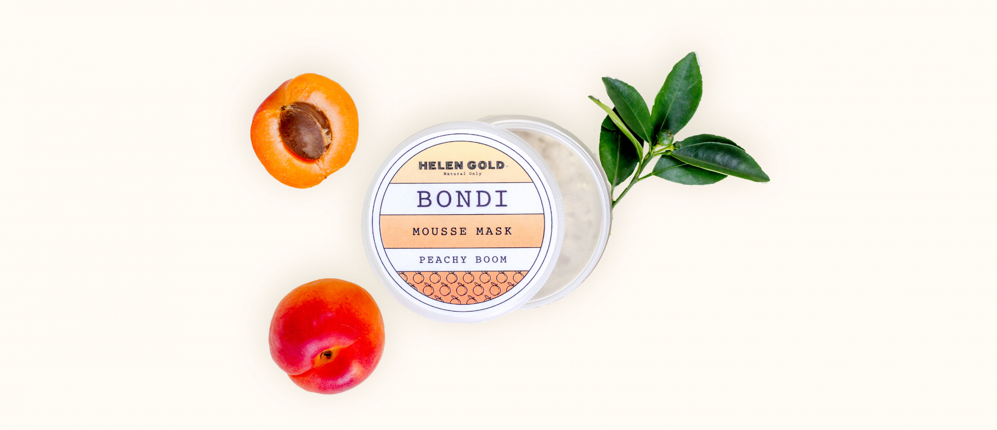 Средства для лица Peachy Boom Mousse Mask серии Bondi от Helen Gold, аромат - персик, 150 г
